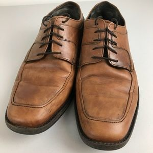 Johnston & Murphy Brown Leather Lace Up Oxford 8